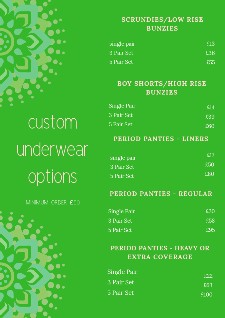 Updated pants price list 2019
